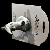 Acacia Creations Hand Carved Jacaranda Wood Safari Rhinoceros Rhino Magnet image 6