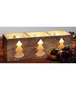 Three Tree Wood Candle Box Christmas Decor - $36.00