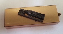 Vintage Gold Tone Products Travel Brass Toothbrush Holder W/Brush And To... - $14.80