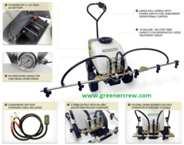 Battery Powered Commercial Turf Sprayer Pull Behind Folding Boom - $1,583.50