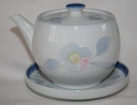 Individual Pastel Porcelain 6 oz. Sake Pot Pitcher on Plate  #2093 - $18.00