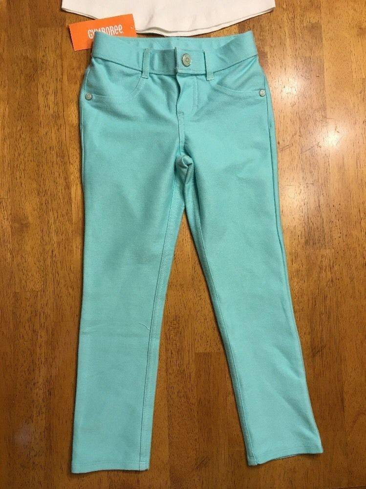 NWT Gymboree Girl's White Panda Origami Shirt & Teal Jeggings Outfit - Size: 5 image 6