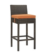 Conduit Outdoor Patio Wicker Rattan Bar Stool Brown Orange EEI-2799-BRN-ORA - $151.00