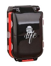 Black and Red Travel Pills Carrying Case - $15.62
