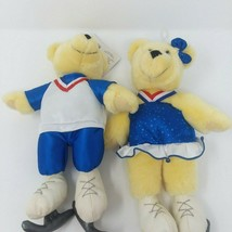 Hallmark Exclusive Plush 2002 Olympic Winter Games Kiss Kiss Bears on Ic... - $13.96