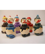 3x Vintage Squeaky Novelty Clowns & Pencil Sharpeners Figures - $35.63