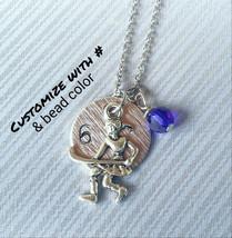 Field Hockey Necklace, Custom Sport Necklace, Personalized Necklace, Fie... - $8.75