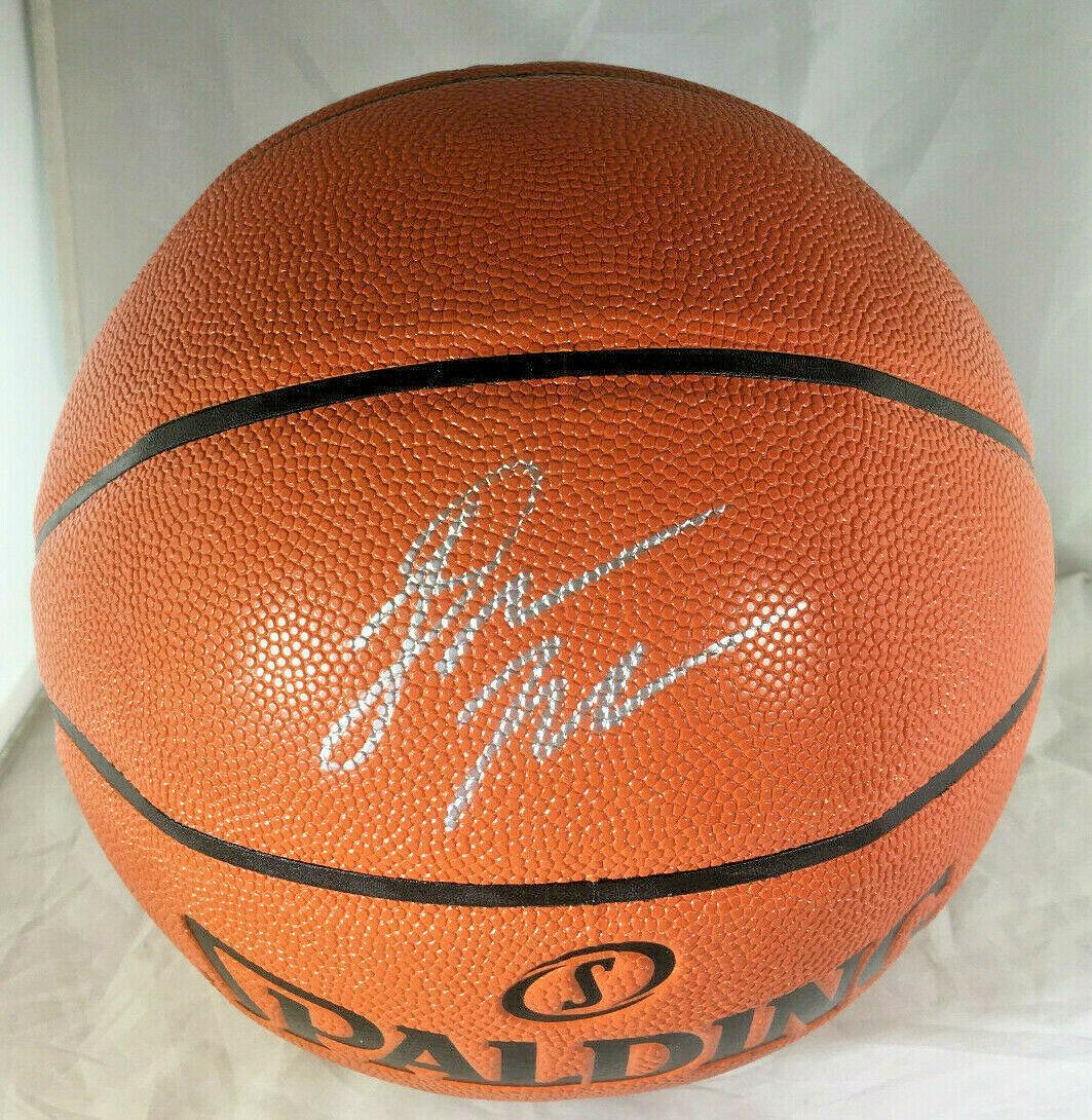 DONOVAN MITCHELL / UTAH JAZZ / AUTOGRAPHED FULL SIZE NBA LOGO BASKETBALL / COA