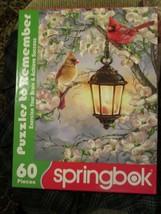 Springbok Jigsaw Puzzle For Seniors Red Cardinal Birds Spring Blossoms 60 Lge Pc - $18.00