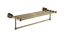 Gold PVD clour bathroom brass marble towel racks modern  - $138.59