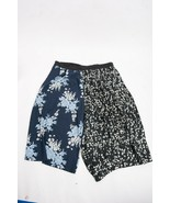 Asos Women's Wide Leg Flowy Crop Pants Sz 20 Black Blue White Floral Loose - $14.84