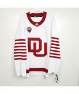 Adidas University Of Denver Mens Hockey Jersey 56 White Red NWT $130 Aut... - $98.13