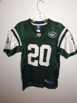 Reebok NFL New York Jets 20 Thomas Jones Youth Large 14-16 Green On Fiel... - €14,28 EUR