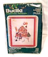 Bucilla Candy Cane Cottage Cross Stitch Kit 49016 Christmas Heirloom Kit - $19.99