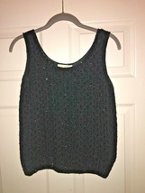 Vintage Suburbanite wool beaded evening top sz small sleeveless. - $25.00