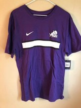 NEW Nike Texas Christian University T-Shirt Mens L TCU Horned Frogs Tee Orchid - $19.59
