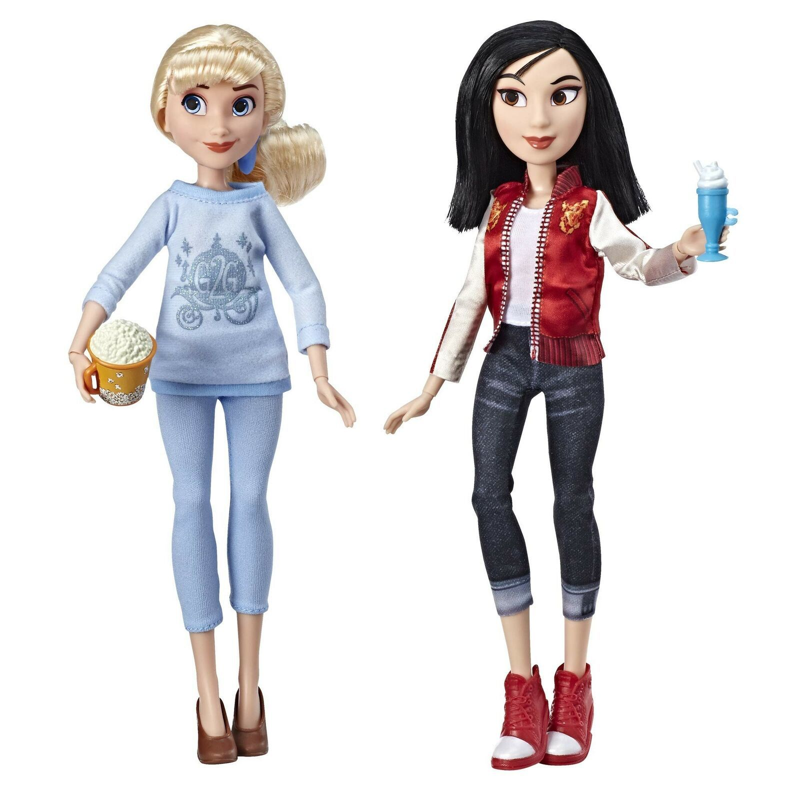 Disney Princess Ralph Breaks The Internet Movie Dolls, Cinderella & Mulan Dol... - $30.72