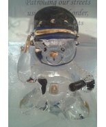 Lovinbox Hand Sculpted Glass and 24 Kt Gold Police in Gift Box - $10.77