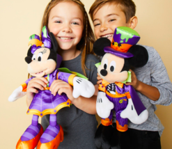 "Disney Store Mickey & Minnie Mouse Halloween Theme Plush 16"" Really Cut... - $32.71"