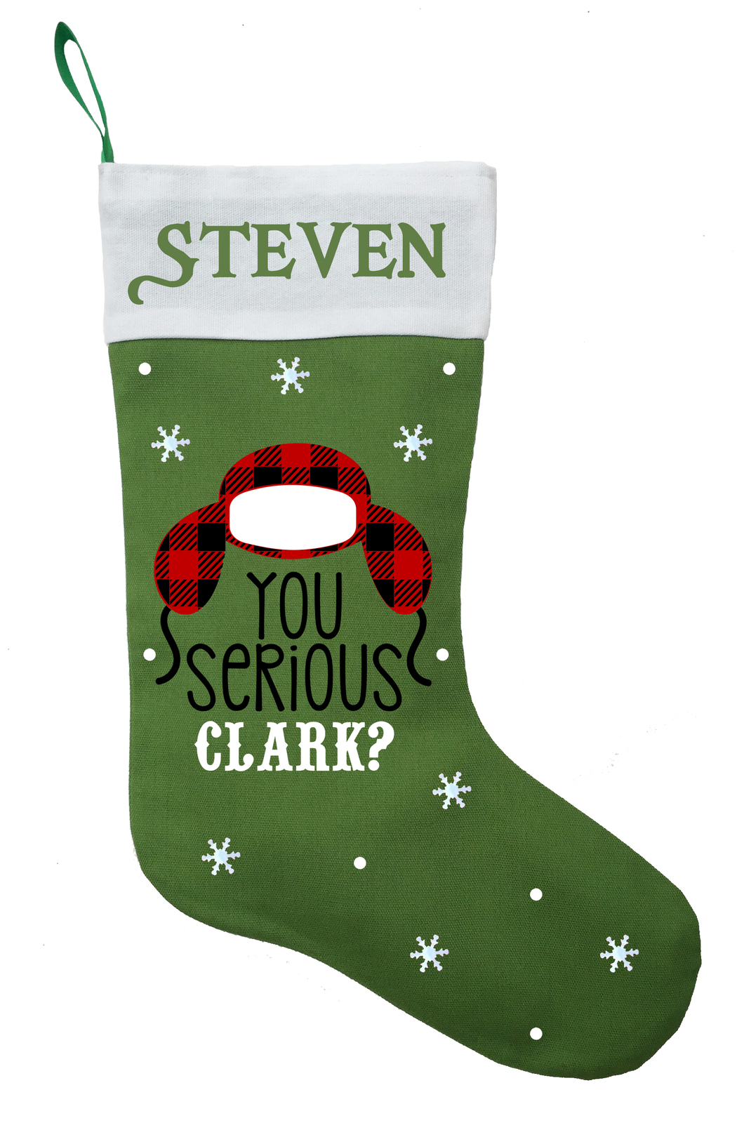 Clark Christmas Stocking, Personalized National Lampoons Christmas Stocking