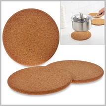 "Protect Your Countertops From Hot Cookware w Natural Cork Trivets 7"" 19c... - $12.99"