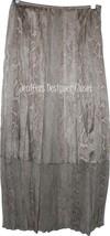NWT ELIE TAHARI silk chiffon 0 $498 maxi skirt career reptile semi sheer bottom - $135.79