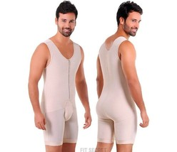 Fajas Colombianas para Hombre Men's Full Body Shaper Post Surgery Back S... - $85.49