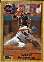 1987 Topps Baseball Card, #48, Wally Backman, New York Mets - $0.99