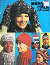 Bernat Hats Scarves & Mittens Book No 231 Vtg 1977 Hand Knitting Book Pa... - $6.78
