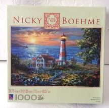 "Nicky Boehme ""Enchantment"" Lighthouse Cape Nautical Puzzle 1000 Pcs Pieces - $19.99"