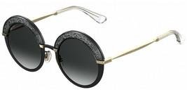 Jimmy Choo Women's Gotha/S THP90 Matte Black/Gold Fashion Round Sunglasses - $256.83