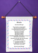 Miracles - Personalized Wall Hanging (193-1) - $18.99