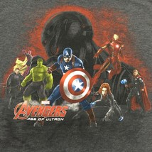 Marvel Avengers Age Of Ultron Light Weight Charcoal Colored Shirt Mens Size L - $9.89