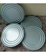 "4 Vintage Tin 7"" Film Cans.  No Reels.  G-333 - $25.00"