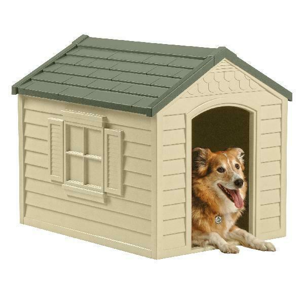 Primary image for PET DOG HOUSE Large Kennel XXL Weather Shelter Durable Outdoor Puppy Vinyl Door