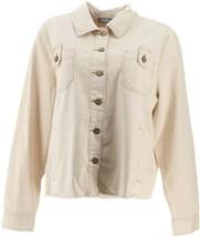 Martha Stewart Natural Denim Button Front Jean Jacket Natural XL NEW A35... - $41.56