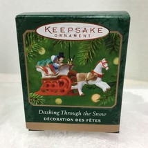 2001 Dashing Through the Snow Mini Hallmark Christmas Tree Ornament MIB Tag H7 - $14.36