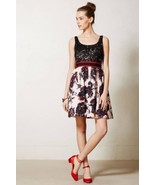 NWT $298 ANTHROPOLOGIE BRUSHSTROKE BLOSSOMS BLACK LACE DRESS by PETER SO... - $94.99
