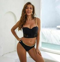 Women Bikini Set Bandage Lace Swimwear Beachwear Bathing Suit Summer Swimsuit image 6