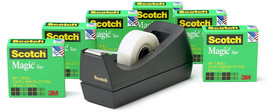 Scotch Brand Magic Tape with Black Dispenser, Writeable, Invisible, Phot... - $25.99