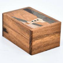 Northwoods Wooden Parquetry Nautical Ocean Marine Lighthouse Mini Trinket Box image 4