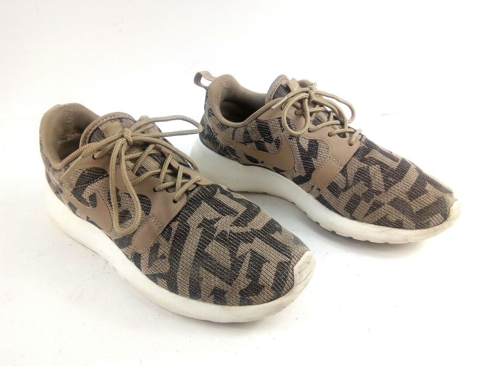 Nike Women's Sneakers 6.5 Roshe Run One Jacquard Beige Desert Camo 705217 200 image 2