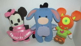 Disney Parks Fleece Pook A Looz Eeyore Plush Minnie Mouse Mickey Monster... - $13.36