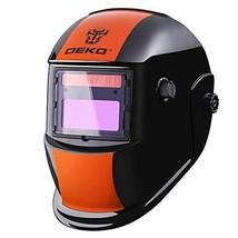 Mig Tig Arc Welding Helmet Solar Powered Auto Darkening Hood Adjustable ... - $43.11