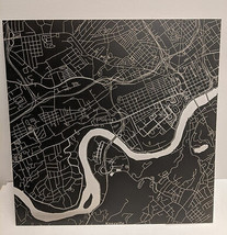 """Knoxville Tennessee Map 12"""" x 12"""" Laser Matte Black Downtown City Metal Wall Art - $19.34"""