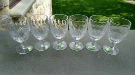 6 NEW VINTAGE Waterford COLLEEN CRYSTAL CLARET WINE GLASSES Short Stems ... - $300.00