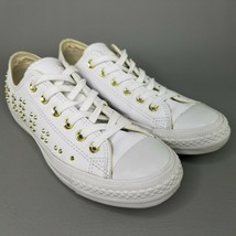 Converse CTAS Low Studded Leather Shoes Size 7 Womens Chuck Sneakers Whi... - $56.09