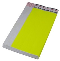 """500 Neon Yellow Tyvek Carnival Event Wristband Tickets 3/4"""" - $17.80"""
