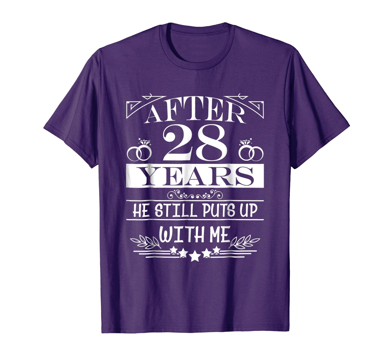 28th Wedding Anniversary Gift: 28th Wedding Anniversary Gifts For HerWife Couple Shirts