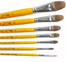 Watercolor Paintbrushes Long Handled Brush Sets, 7-Piece